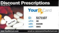 Grayson Rx card save money on prescriptions